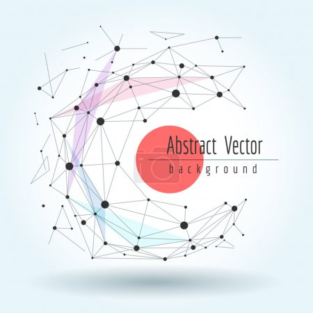 Illustration for Wireframe mesh polygonal sphere with connected lines and dots. Vector graphics geometric transformation concept - Royalty Free Image