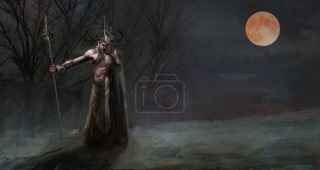 Loki the evil god of Norse