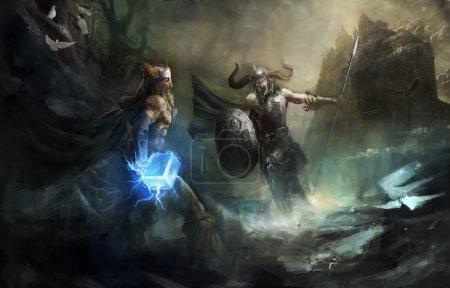 Thor and Loki the eternal battle