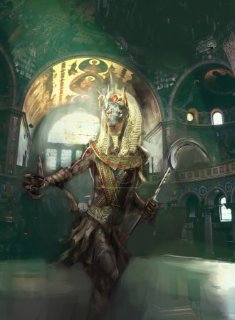 Anubis the guardian of afterlife...