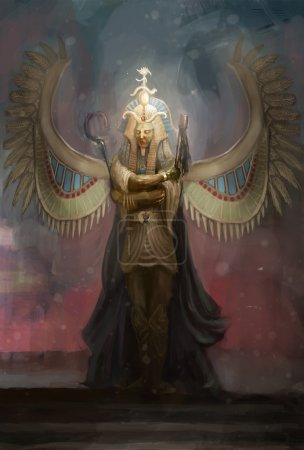 Osiris the pharaoh of Egypt