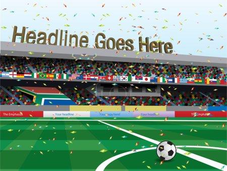 Football stadium celebration