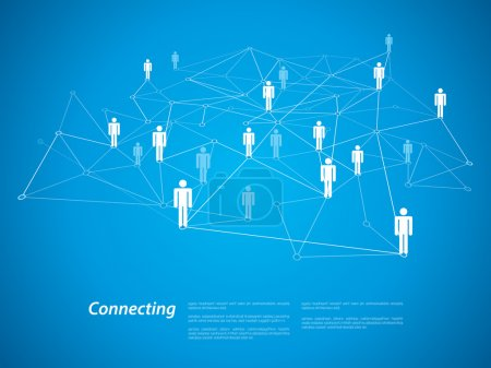 connecting people concept