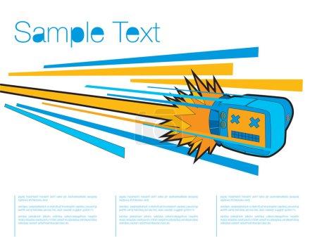 Illustration pour Doodle TV excès de vitesse, illustration vectorielle - image libre de droit