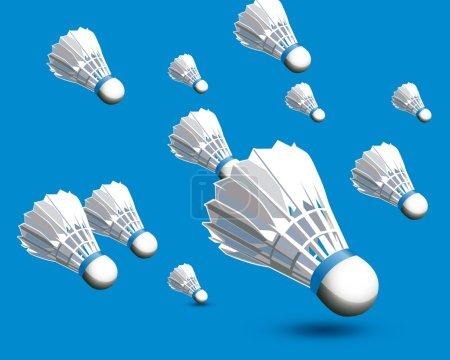 Badminton balls realistic