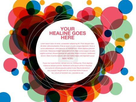 Colorful dot overlap design template