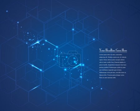 Illustration for Zoom tech cell design template, vector illustration - Royalty Free Image