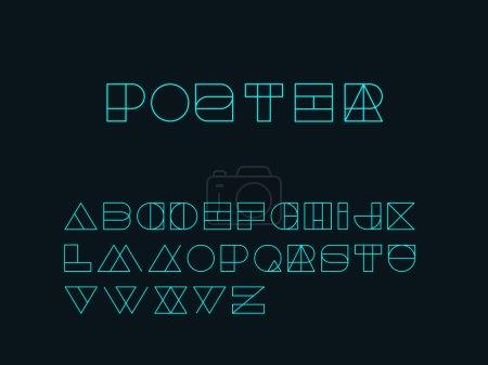 Blend line Designer alphabet font