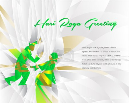 Hari Raya greeting, vector illustration...