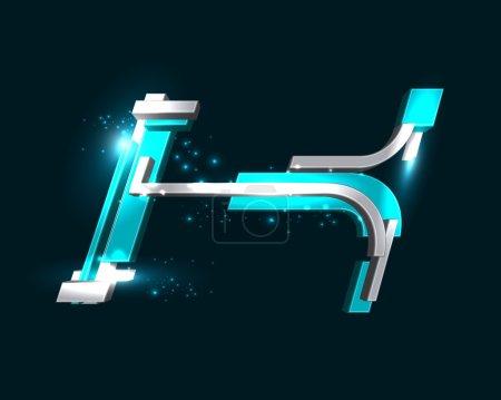 Three Dimensional Futuristic Font