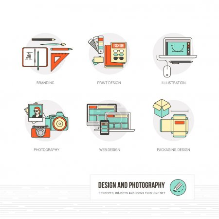 graphic and web design concepts