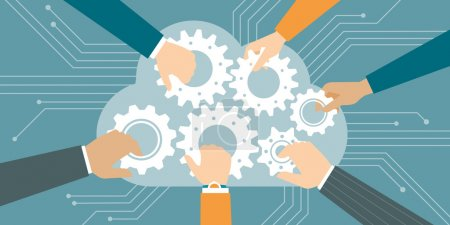 Cloud computing and teamwork