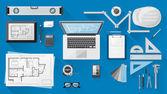 Construction engineer's desktop