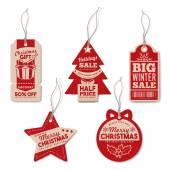 Vintage Christmas tags set
