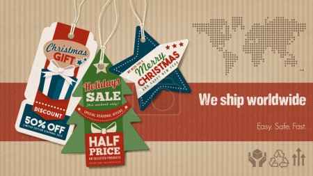 Worldwide shipping and sales banner