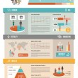 Population demographics infographic with charts, s...