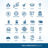 Government and administration icons