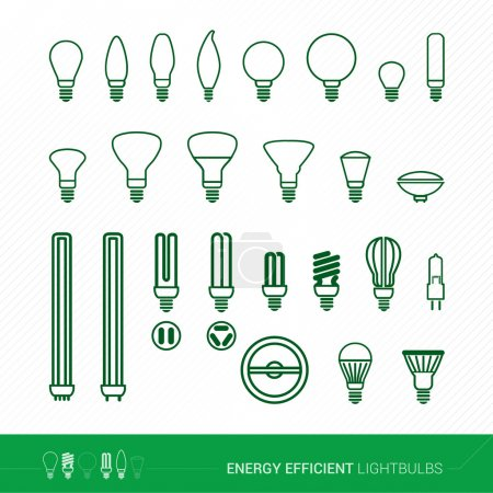Bulbs and cfl lamps set