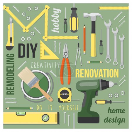 DIY and home renovation tools set