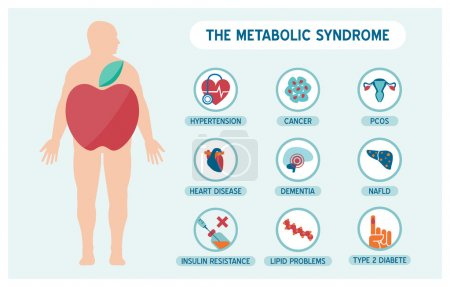 The metabolic syndrome infographic