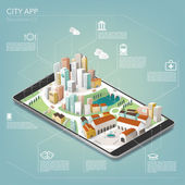 City app for mobile telephone