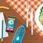 Постер, плакат: Food diet healthy lifestyle