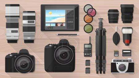 Professional photographer equipment