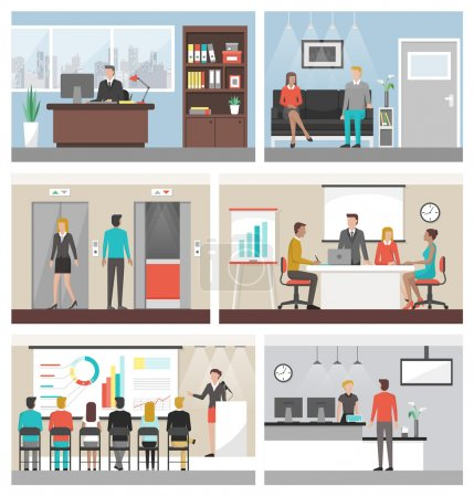 Business people working in the office and corporat...