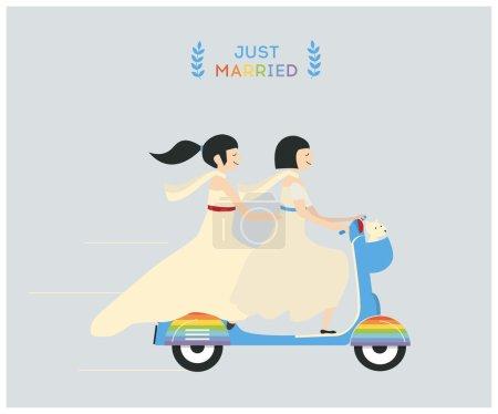 wedding lesbian couple