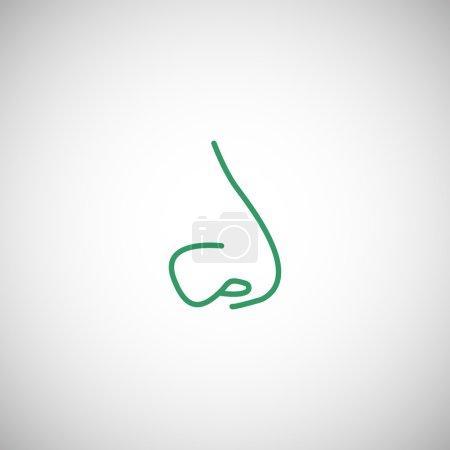 Human nose icon