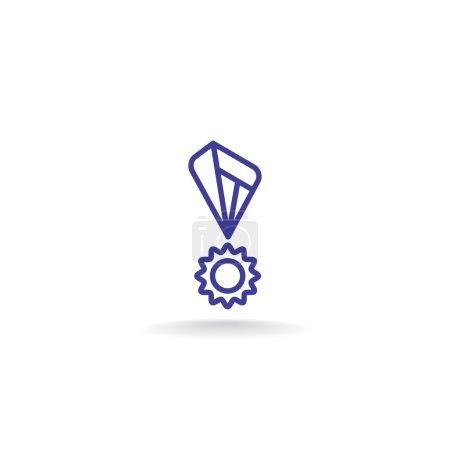 Illustration for Award medal icon. victory symbol. vector illustration - Royalty Free Image