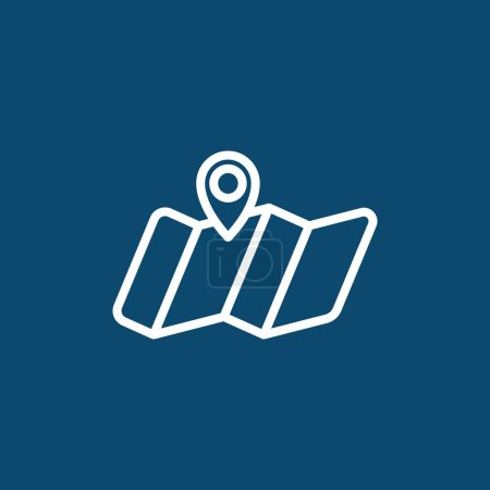 Illustration for Place location icon. pin on map symbol. vector illustration - Royalty Free Image