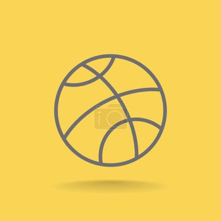 Basketball sport icon
