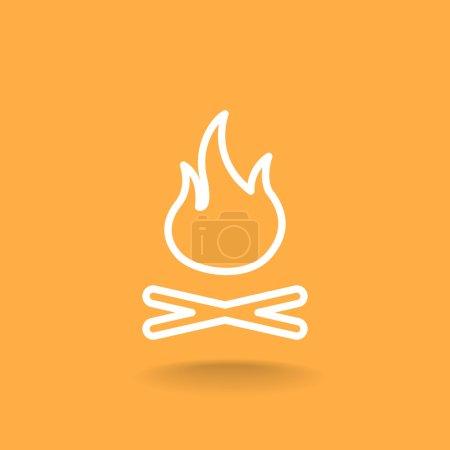 burning campfire icon