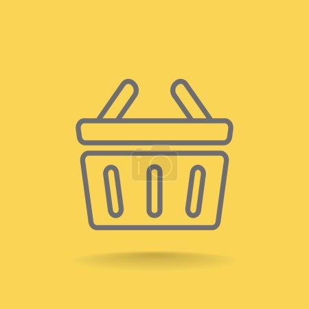 Illustration pour Illustration vectorielle de l'icône Panier - image libre de droit