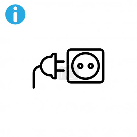Illustration for Plug and socket icons vector illustration - Royalty Free Image