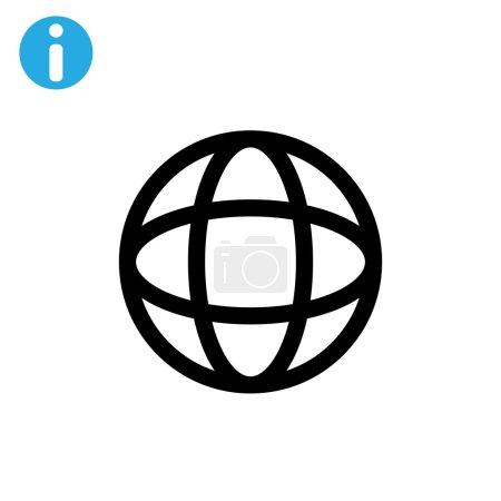 Earth web icon.