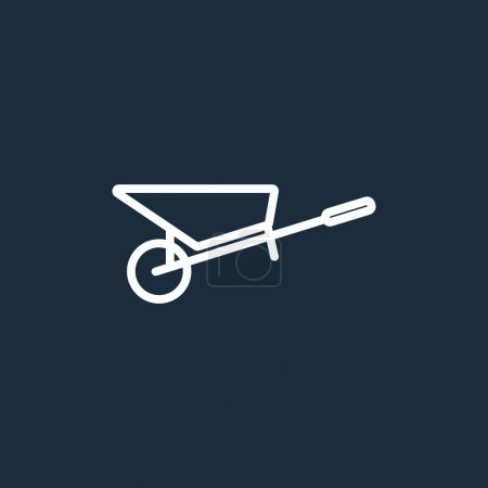 Metal wheelbarrow icon