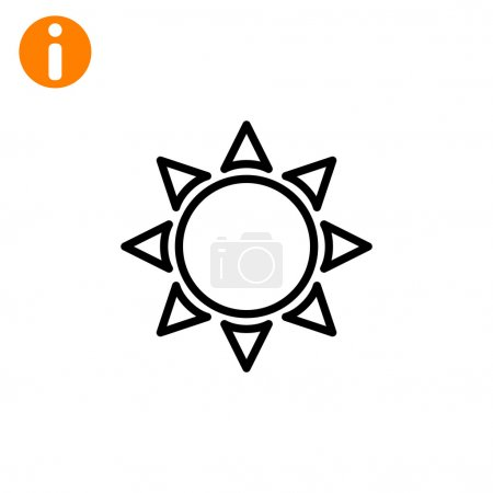 Illustration for Outline sun icon. vector illustration - Royalty Free Image