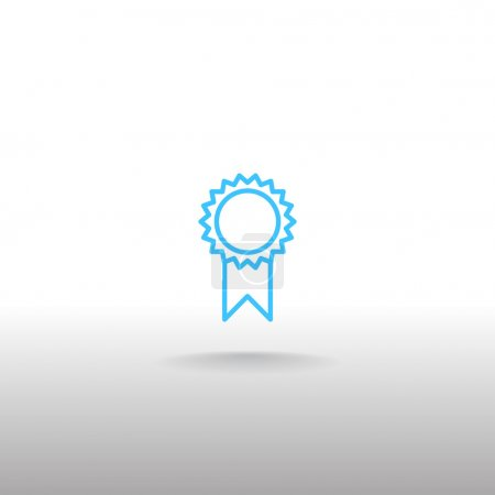 Illustration for Vector illustration of achievement medal icon - Royalty Free Image