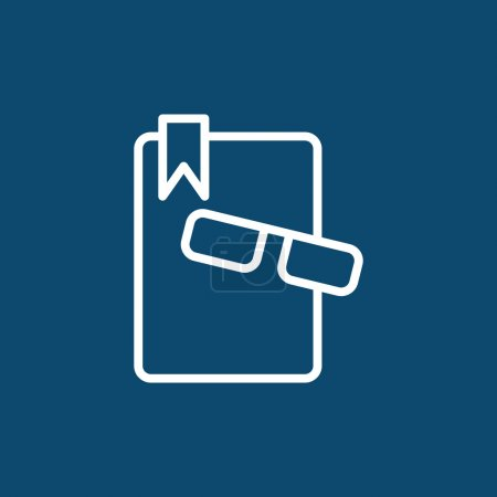 Book and glasses icon