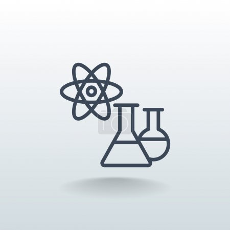 laboratory beakers icon