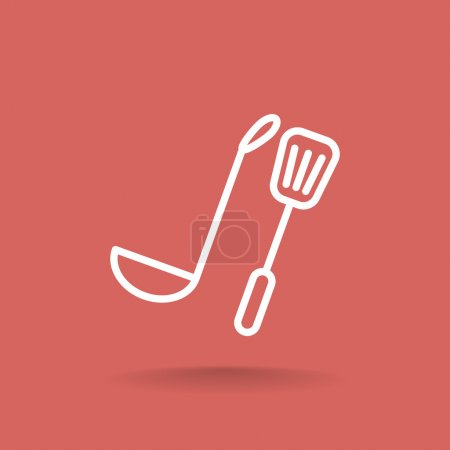 ladle and spatula icon