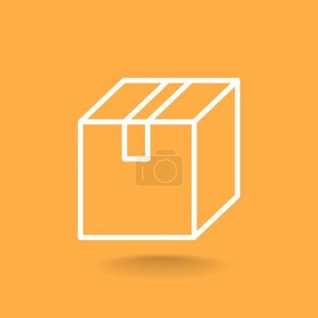 Illustration pour Boîte de livraison icône vectoriel illustration - image libre de droit