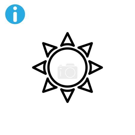 Outline sun icon