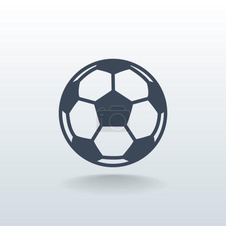 Illustration for Soccer ball icon. sport symbol. vector illustration - Royalty Free Image