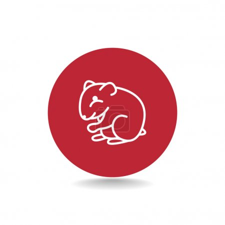 Outline hamster icon