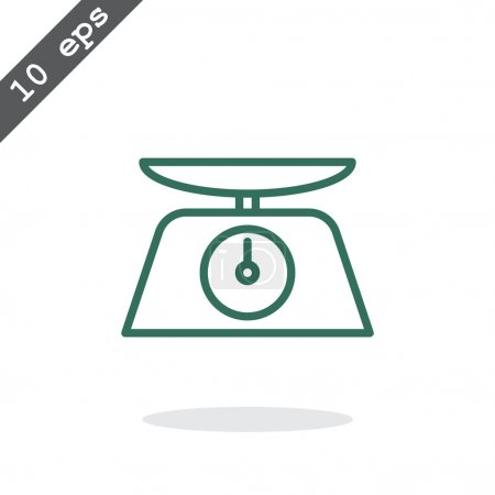 Illustration for Kitchen scales icon. cooking symbol. vector illustration - Royalty Free Image