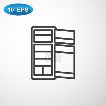 Refrigerator for food icon