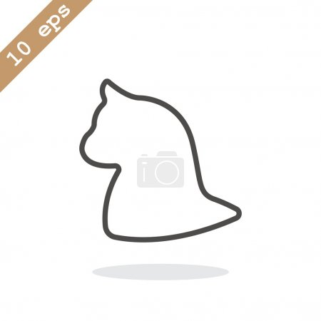 Outline cat icon
